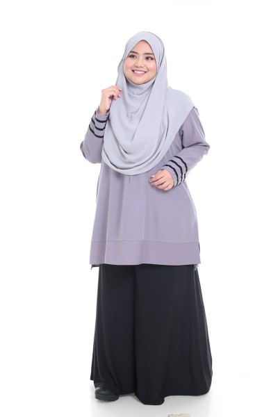 SAFA TUNIC - PURPLE GREY